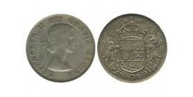 50 Cents Elisabeth II Canada Argent