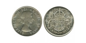 50 Cents Elisabeth II Canada Argent