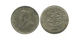 25 Cents Georges V Ceylan Argent