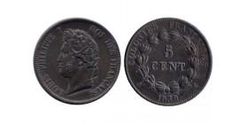 5 Centimes Louis Philippe Ier Colonies Générales