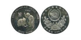 5000 Won Corée du Sud Argent
