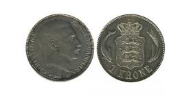 1 Couronne Christian X Danemark Argent