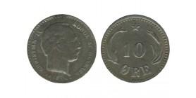 10 Ore Christian IX Danemark Argent