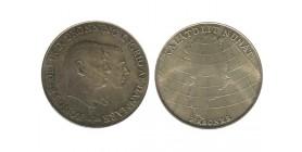2 Couronnes Frederic IX Danemark Argent