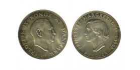 2 Couronnes Frederic IX et Margaret Danemark Argent
