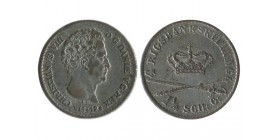 4 Rigsbankskilling Christian VIII danemark argent