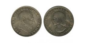 5 Couronnes Frederic IX et Anne Marie Danemark Argent