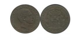 10 Centimos Alphonse XII Espagne