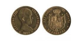 20 Pesetas Alphonse XIII Espagne