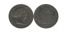 25 Centimes Isabelle II Aqueduc espagne