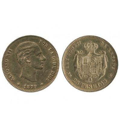 25 Pesetas Alphonse XII Espagne