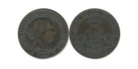 5 Centimos Isabelle II Espagne