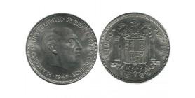 5 Pesetas Franco Espagne