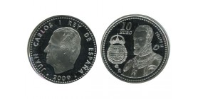 10 Euros Juan Carlos Espagne Argent