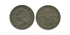 2 Pesetas Alphonse XIII Espagne Argent