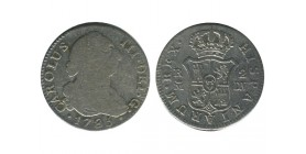 2 Reales Charles III Espagne Argent