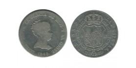 4 Reales Isabelle II Espagne Argent