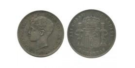5 Pesetas Alphonse XIII 3ème type Espagne Argent