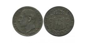 50 Centimos Alphonse XII Espagne Argent
