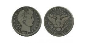 1/2 Dollar Barber Etats - Unis Argent