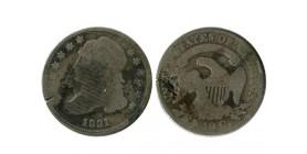 10 Cents Buste Drapé etats - unis argent
