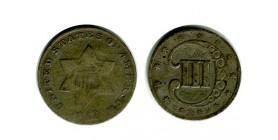 III Cents etats - unis argent