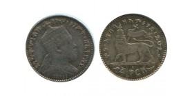 1/20 Birr Menelik II Ethiopie Argent