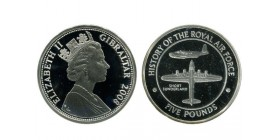 5 Livres Elisabeth II gibraltar argent