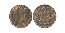1/2 Penny Elisabeth II grande bretagne