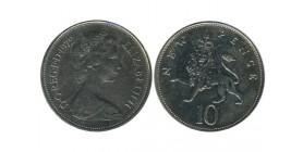 10 New Pence Elisabeth II Grande Bretagne