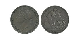 1 Couronne Georges IV Grande Bretagne Argent - Grande Bretagne