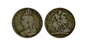 1 Couronne Victoria Grande Bretagne Argent - Grande Bretagne