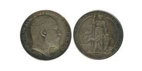 1 Florin Edouard VII Grande Bretagne Argent - Grande Bretagne