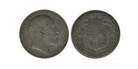 1/2 Couronne Edouard VII Grande Bretagne Argent - Grande Bretagne