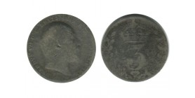 3 Pence Edouard VII Grande Bretagne Argent - Grande Bretagne