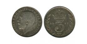 3 Pence Georges V Grande Bretagne Argent - Grande Bretagne