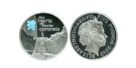 5 Livres Elisabeth II grande bretagne argent - grande bretagne