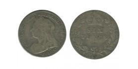 6 Pence Victoria Grande Bretagne Argent - Grande Bretagne