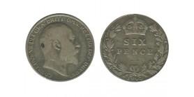 6 Pence Edouard VII Grande Bretagne Argent - Grande Bretagne