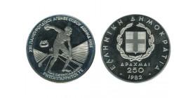 250 Drachmes Jeux Paneuropeens Grèce Argent