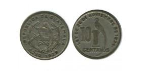 10 Centavos Guatémala Argent