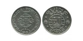 20 Escudos Guinée Portugaise Argent