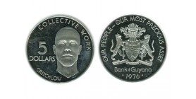 5 Dollars Guyana Argent