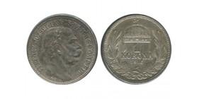 1 Couronne Francois Joseph Ier Hongrie Argent