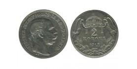 2 Couronnes Francois Joseph Ier Hongrie Argent