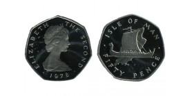 50 Pence Elisabeth II Ile de Man