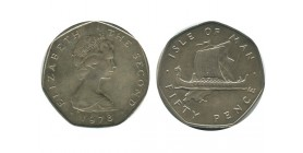50 Pence Elisabeth II Ile de Man Argent