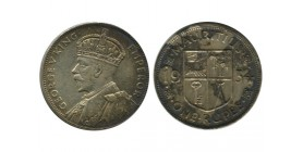 1 Roupie Georges V Ile Maurice Argent