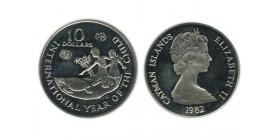 10 Dollars Iles Cayman Argent
