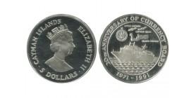 5 Dollars Iles Cayman Argent